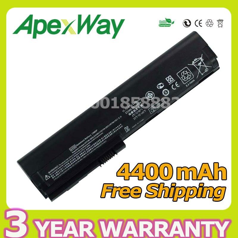 Apexway 4400mAh laptop battery for HP 632015-542 632016-542 632417-001 HSTNN-UB2L QK644AA SX06XL for EliteBook 2560p 2570Apexway 4400mAh laptop battery for HP 632015-542 632016-542 632417-001 HSTNN-UB2L QK644AA SX06XL for EliteBook 2560p 2570
