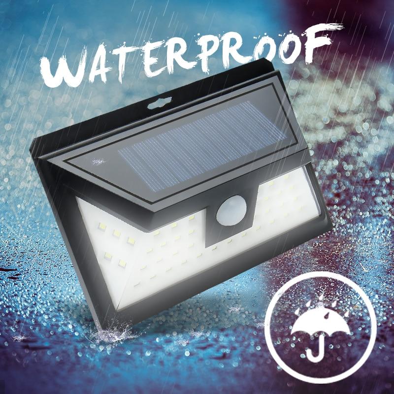 44 LED Solar Light Outdoor Waterproof Garden PIR Motion Sensor Solar Power LED Wall Light Emergency Solar Lamp Pathway Decor