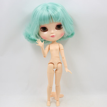 ICY Neo Blythe Doll Short Mint Hair Azone Jointed Body 30cm