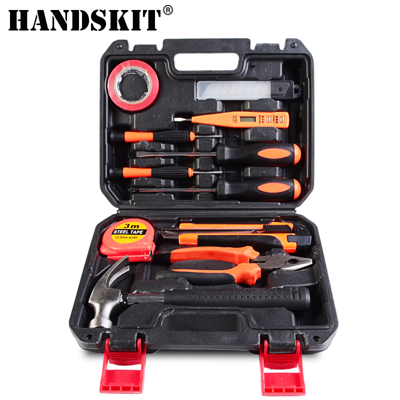 Handskit Screwdriver Set 12 in 1 Slotted And Phillips Screwdriver Set Repair Tool Set With Electric Pen Hammer Knife Tape Tool 100pcs pack 3 in 1 eyeglass screwdriver sunglass glasses watch repair tool kit with keychain portable screwdriver tool wholesale