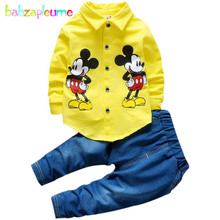 babzapleume Brand Spring Autumn Kids Boys Clothes Cartoon Mouse Shirt+Pant 2PCS Set 0-4T Toddler Girls Clothing Tracksuit BC1248