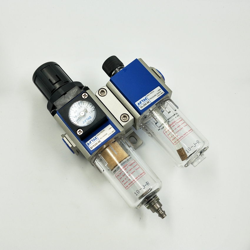 Original AirTAC GFC200-08 Air Filter Regulator Lubricator Combinations 1/4'' Port Thread
