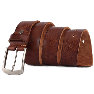 Image 4 - Luxury belt mens belts pronged buckle mans  genuine leather strap for jean high quality wide brown color fashion dropship