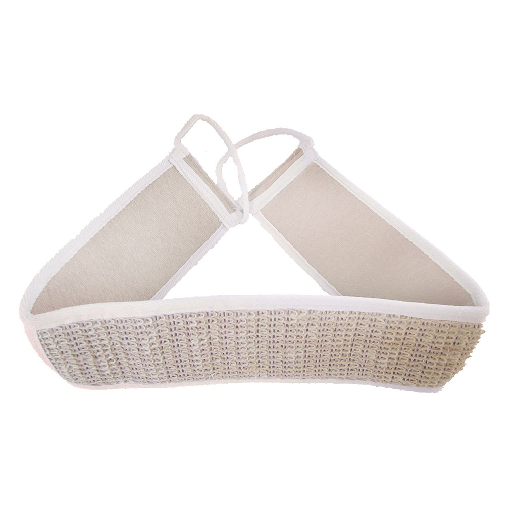 New Arrival Natural Loofah Bath Rub Brush Exfoliate Pull Back Strip Rub Back Belt Chopping Band Bath Towel