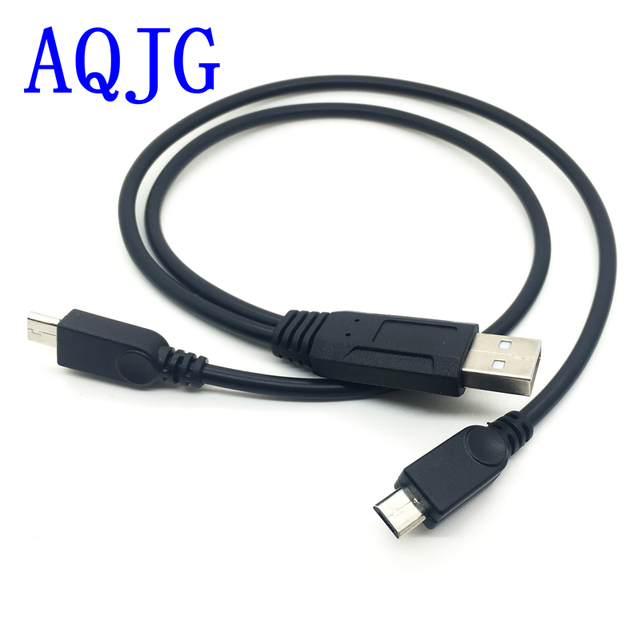 1pcs sub-second data transfer cable 2 Micro USB splitter for two Android tablet female to male newest