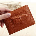 100% Cowhide Genuine Leather Alligator Grain Card Case For Driver Luxury Business Card ID Card Credit Card Holder Drop Shipping