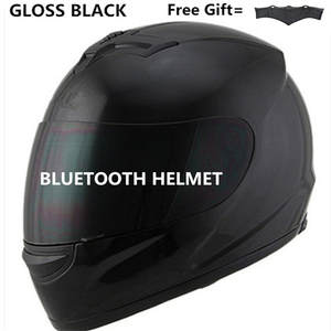 Motorcycle Hat Helmet Phone-Call Black Music Full-Face Lens DOT with Safety Bluetooth