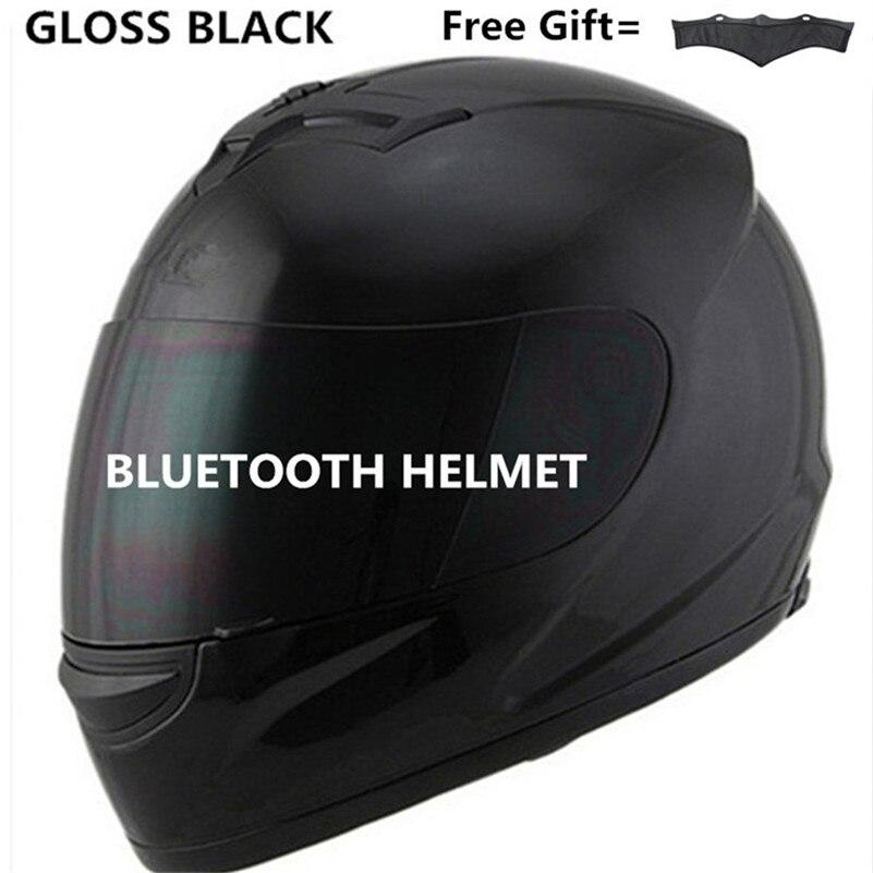 Moto r moto rcycle hut Full Face helm mit objektiv sicherheit helm DOT helm anruf musik bluetooth moto helm S matte schwarz