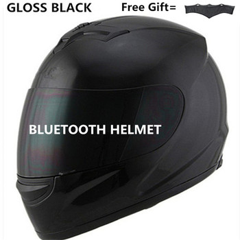 motor motorcycle hat Full Face helmet with lens safety helmet DOT helmet phone call music bluetooth Moto helmet  S  matte black