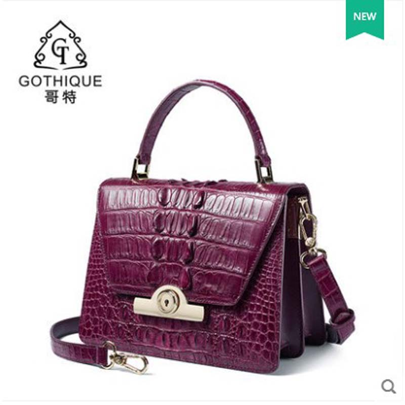 gete 2018 New Thai Alligator women bag crocodile leather women handbag fashion lady bag pack single shoulder bag small side bag