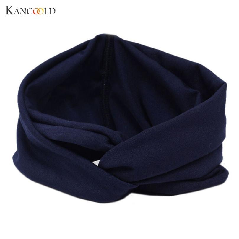 headband   Headwear   hair bands for girls women   Headwear   Cross Sport Yoga Cloth Headband Turban Headscarf Wrap solid MAR28