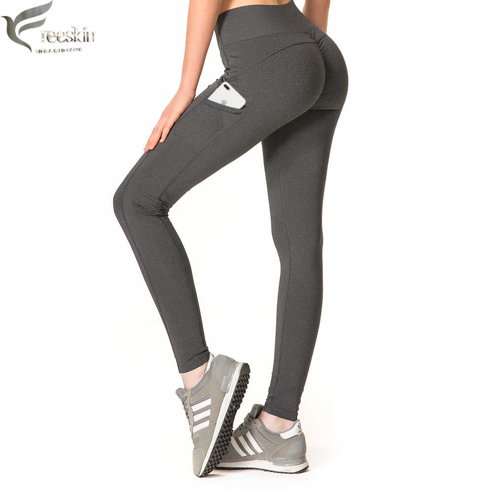 look out for sleek best website Zhangyunuo Push Up Leggings With Pockets Women Sport Pants ...