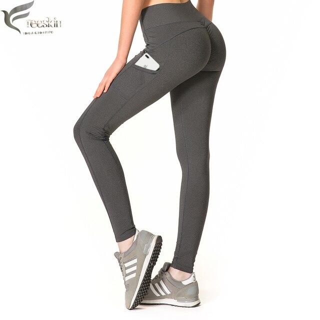 cdb5e0d2c5 Zhangyunuo Push Up Leggings With Pockets Women Sport Pants Fitness Gym  Running Patchwork Yoga Workout Leggings For Women