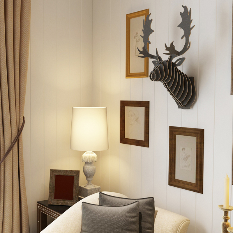 canada quebec milu reindeer head 3d diy wooden wall home decoranimal hangingdeer