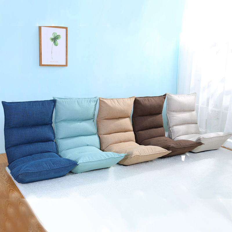 Floor Foldable Modern Chaise Lounge 5 Colors Living Room Furniture Japanese  Reclining Lounger Sofa Sleeper Daybed