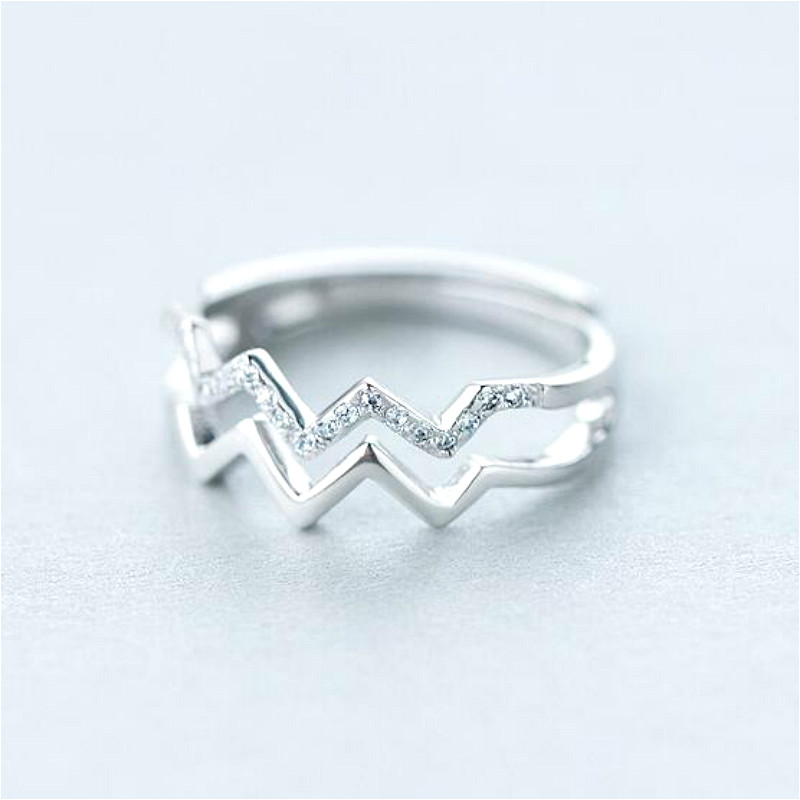 simple double layer wave design rings for women bijoux fashion open jewelry accessories in rings from jewelry accessories on aliexpresscom alibaba