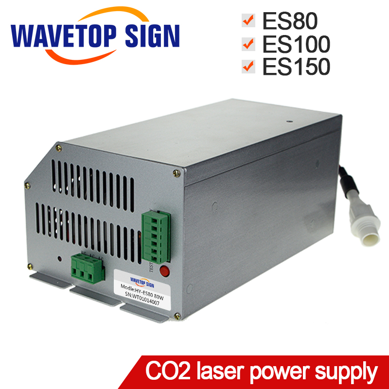 co2 laser power supply ES80 ES100 ES150 use for laser tube 80w 100w 150w for CO2 Laser Engraving Cutting Machine al case of co2 80w 90w 100w glass laser tube marking machine laser tube holder parts for laser path case mounts