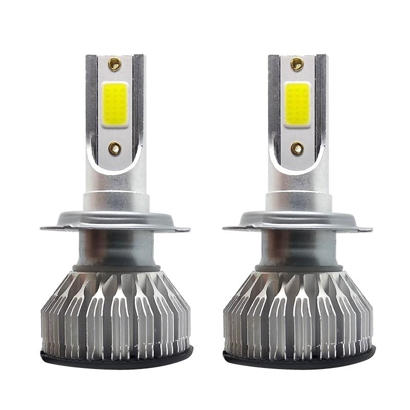 H7 LED Headlights Bulb Car Light All Kits 12V Cold White 6500K Aluminium