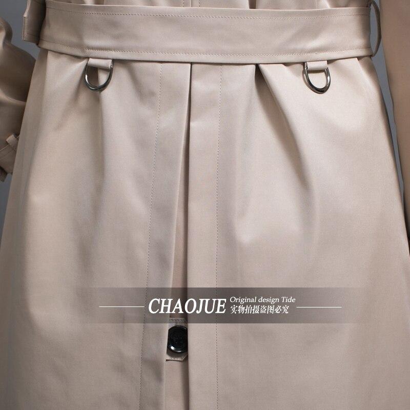 CHAOJUE бренд настроить одежда высшего качества Британский двубортный мужской длинный плащ Европа Тренч Куртка Пальто Тренч - 6