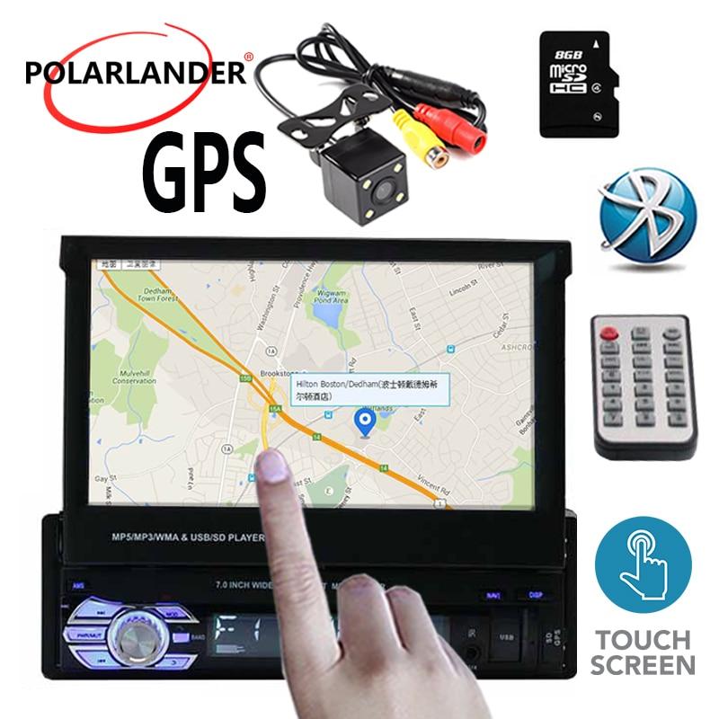 1 Autoradio 7 pouces Autoradio Bluetooth stéréo FM USB TF vidéo MP5 AUX Auto Radio lecteur cassette écran tactile miroir lien