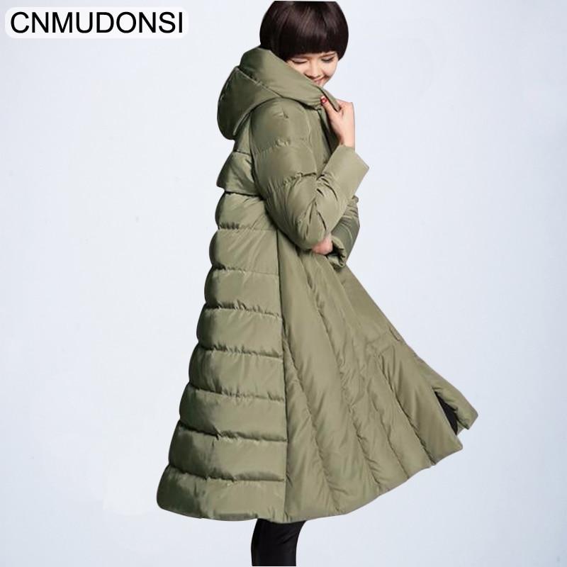 CNMUDONSI Luxury Winter Jacket Vintage Coat Light Korean Down Women Ultra Womens Parka Long Coats Large Plus Size Windbreaker
