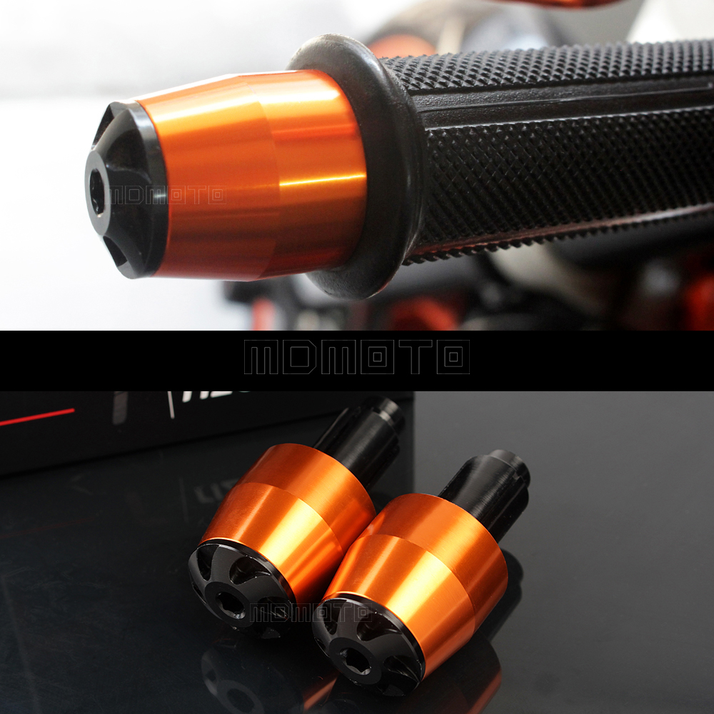 Motorcycle 7/8'' Handlebar Grip Ends Anti Vibration Slider For KTM DUKE 200 125 390 duke125 duke200 duke390 Handle Bar plugs motorcycle front rider seat leather cover for ktm 125 200 390 duke