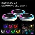 IP68 Светодиодный подводный свет RGB на солнечных батареях  светильник для пруда  Открытый плавательный бассейн  плавающий декор для вечеринки...