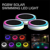 IP68 LED Underwater Light RGB Solar Powered Pond Light Outdoor Swimming Pool Floating Party Decor Light with Remote Control Lamp