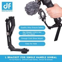 L bracket with 3 hot shoe mount Handle magic arm for gimbal attach monitor Mic zhiyun crane 2/MOZA/feiyu/Dji Ronin S accessories