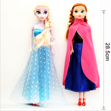 Hot sale Princess Elsa Anna Doll Snow Queen Children Girls Toys Birthday Christmas Gifts For Kids Sharon Dolls free shipping