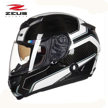 ZEUS Flagship Full Face Urban racing motorcycle helmet Twice glasses carbon fiber helmet Safe Dot ZEUS 1200