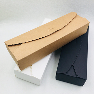 Image 5 - 20pcs/lot Natural Brown Kraft Paper Packaging Box handmade Soap Packaging Box Wedding Favors Candy Gift Long Paper Box