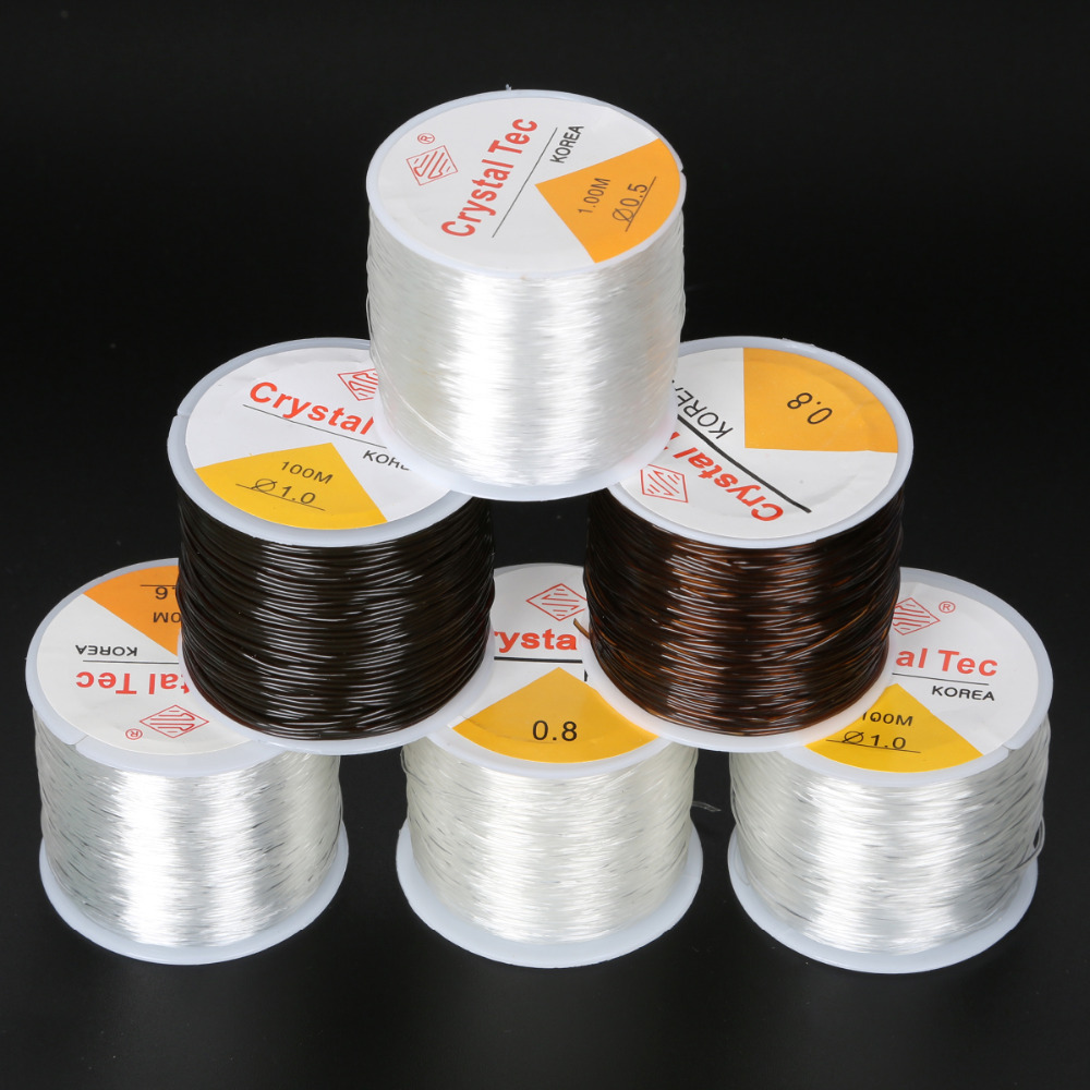 0.5/0.6/0.8/1.0mm Transparent Non-Stretch Fishing Line Wire Nylon String Beading Cord Thread Findings DIY Jewelry Accesories