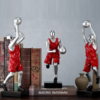 Creative resin basketball people statue home decor crafts room decoration objects office study bookshelf people sports figurine
