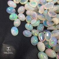 Tbj, натуральный Эфиопский цветной опал ov6 * 8 мм Высокое качество ard 0.7ct натуральные драгоценные камни для ювелирных изделий из 925 стерлинговог...