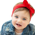 SunWard Baby Kids Girls Rabbit Bow Ear Hairband Headband Turban Knot Head Wraps bow hairband baby girl head