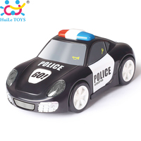 HUILE TOYS 6106A Baby Toys Rapid Police Model Car With Touchable Function Pull Back Cars Toys