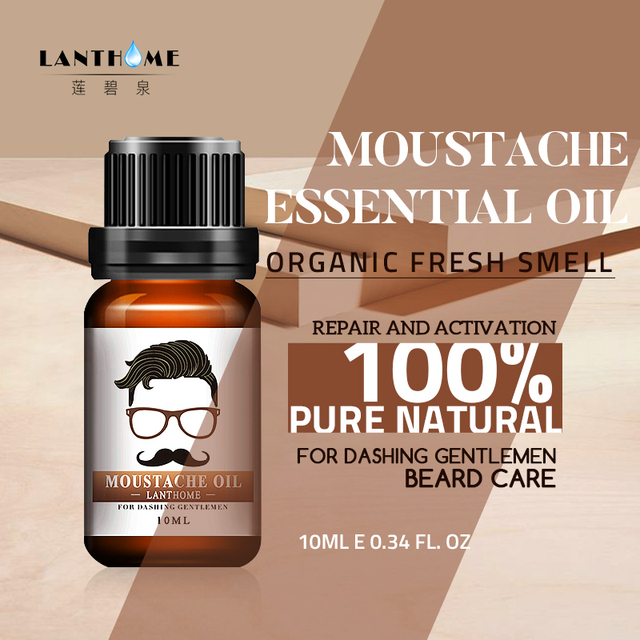 New Beard Growth oil beards hair Thicker Essence Mustache Thick sideburn Treatment Sunburst alopecia Serum Product beard shaping 1