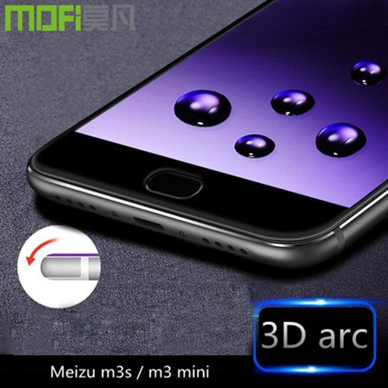 imágenes para Meizu m3 m3 mini protector de pantalla de vidrio templado 32 gb Meizu cubierta completa 3D película meizu m 3 cristal 16 gb antideslumbrante 9 h ultra delgado