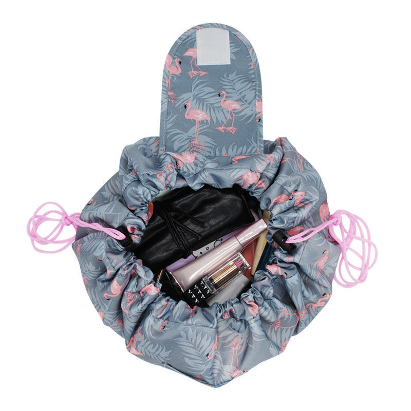 Girl Drawstring Shrink Cosmetic Case Women Portable Travel Toiletry Bag Makeup Pouch Beauty Products Accessories Gear Supplies