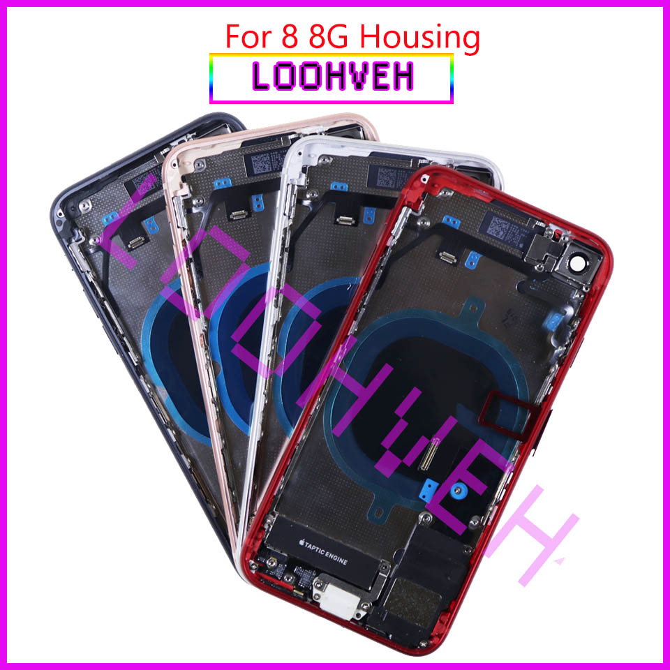 New For Iphone 8 8G Or 8 Plus X Full Housing Assembly Back Middle Frame Chassis Battery Cover Body With Flex Cable CE LOGO Glass