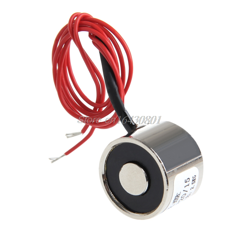 DC 12 V Holding Magnet Electric P20 / 15 Lifting Electromagnet Solenoid 2.5 KG #S018Y# High Quality