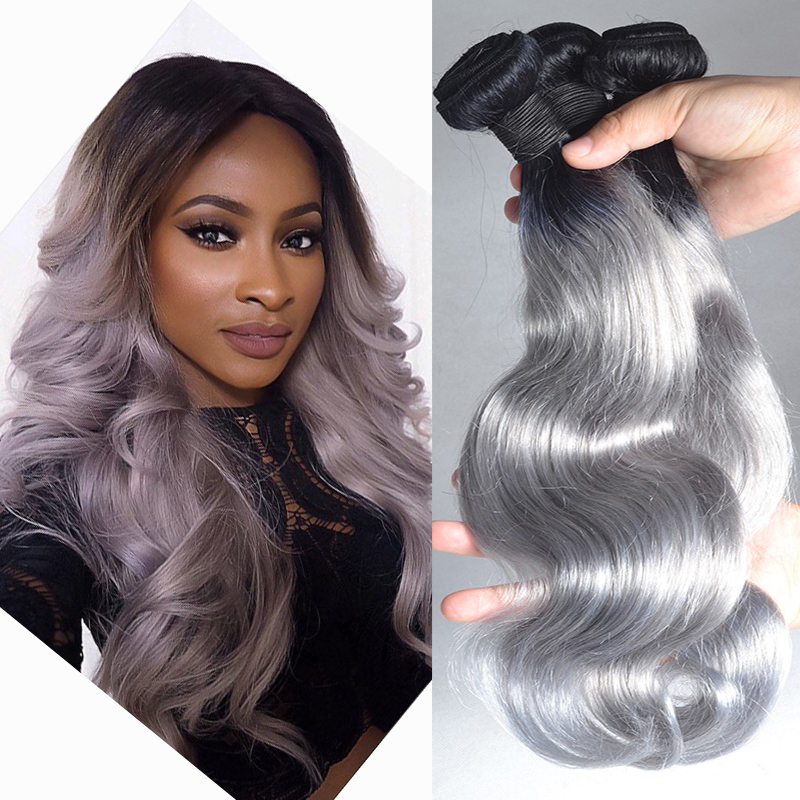 8a fashion ombre brazilian hair t1bgrey hair weave two tone human 8a fashion ombre brazilian hair t1bgrey hair weave two tone human hair weave brazilian body wave 3 bundle ombre hair extensions in hair weaves from hair pmusecretfo Images