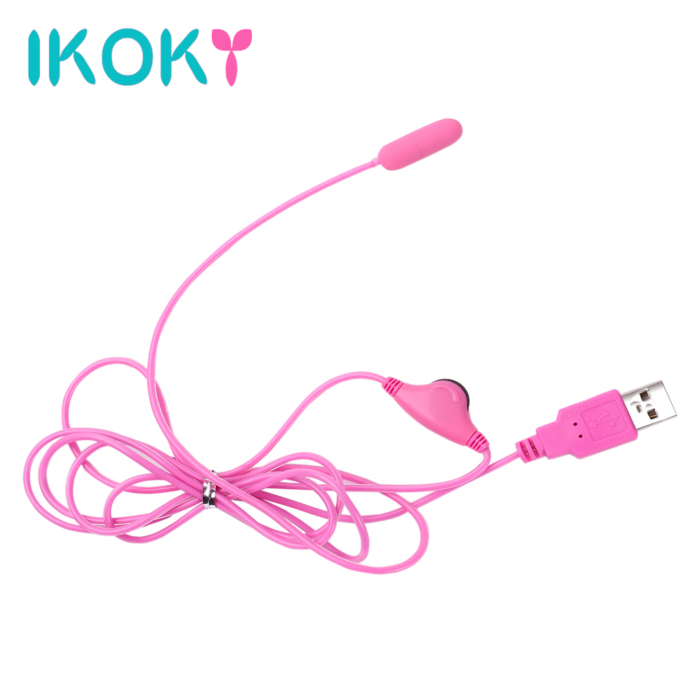 IKOKY USB Mini Bullet Vibrator Masturbator Adult SM product Nipples Sex Toys for Men Women Vibrating Egg Clitoris Stimulator