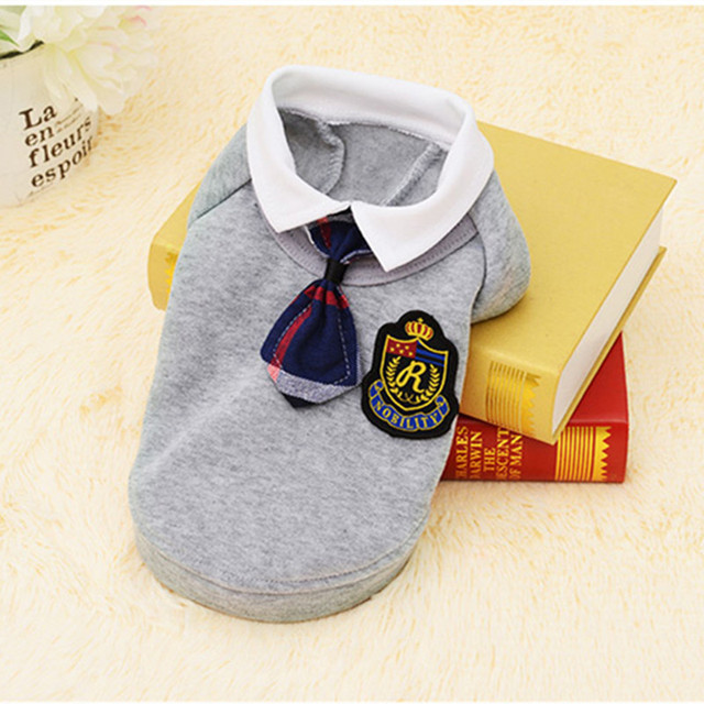 School Style Pet Dog Clothes Cute Chihuahua Coat Costume Puppy Outfit For Small Dog Clothes Spring Autumn Pet Shirts Dress 39S1Q