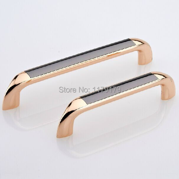 modern fashion rose gold kitchen cabinet handle black dresser pull 128mm drawer wardrobe cupbord furniture handles pulls knobs furniture drawer handles wardrobe door handle and knobs cabinet kitchen hardware pull gold silver long hole spacing c c 96 224mm