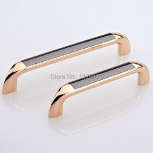 modern fashion rose gold kitchen cabinet handle black dresser pull 128mm drawer wardrobe cupbord furniture handles pulls knobs
