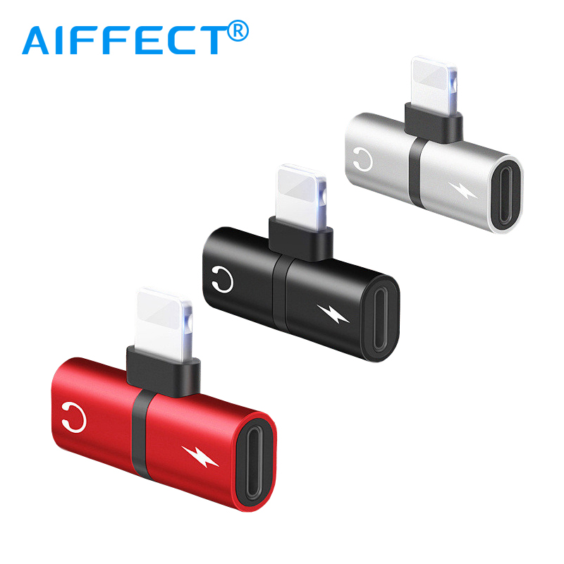 AIFFECT Mobile Phone 2 in 1 Splitter For Mobile Phone USB Cord Audio Charging Dual Adapter Splitter Cable For Headphone Adapter.