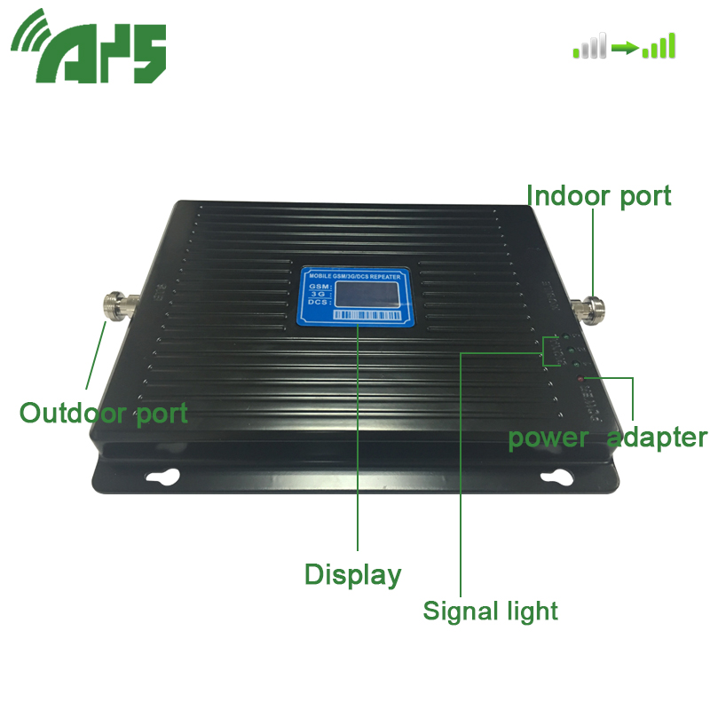 900 1800 2100 MHZ Signal Amplifier GSM LTE UMTS 2G 3G 4G Tri Band Mobile Cell Phone Signal Booster Mobile Signal Repeater