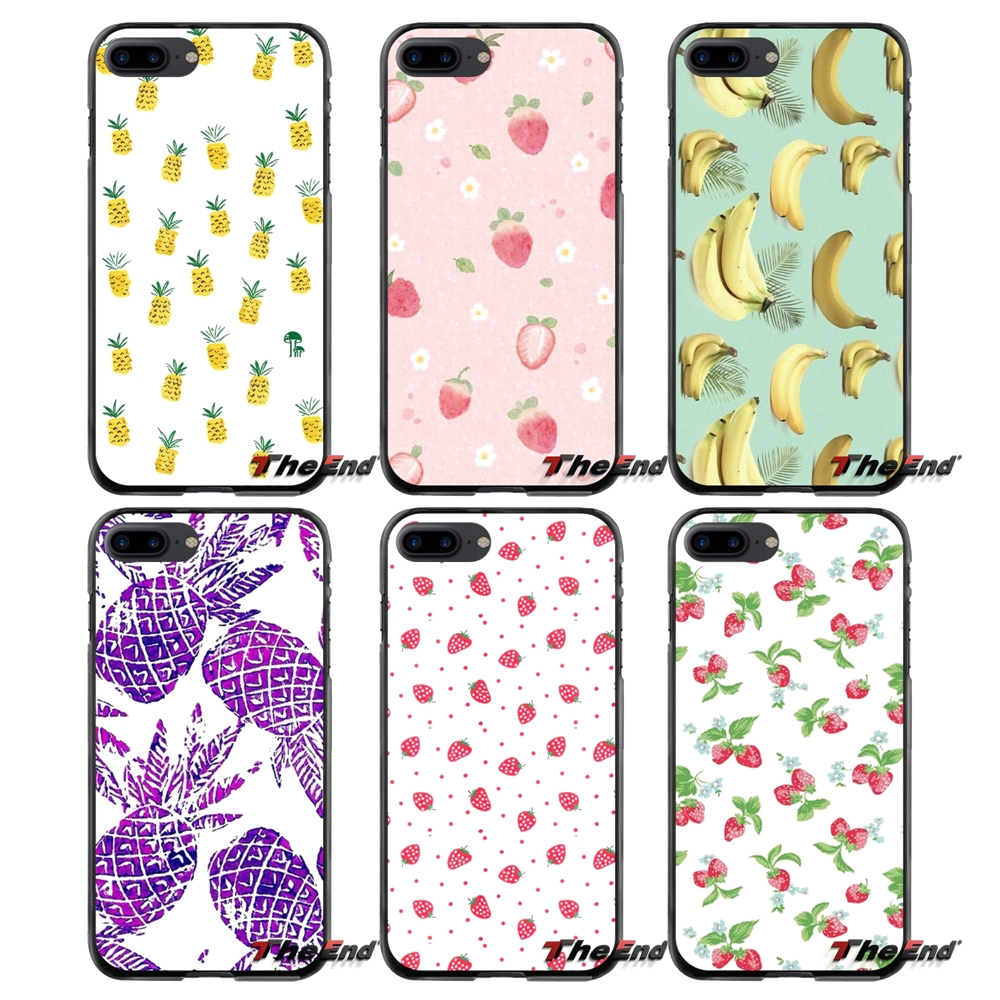 For Apple iPhone 4 4S 5 5S 5C SE 6 6S 7 8 Plus X iPod Touch 4 5 6 Accessories Phone Cases Covers Summer Fruit Back